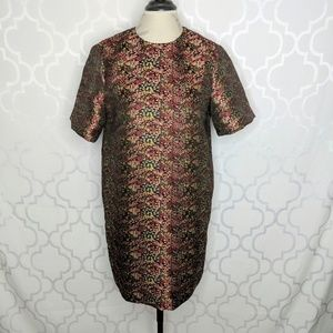 Zara Brocade/Jacquard Tapestry Shift Dress